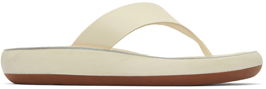 Ancient Greek Sandals 灰白色 Charys Comfort Sole 拖鞋
