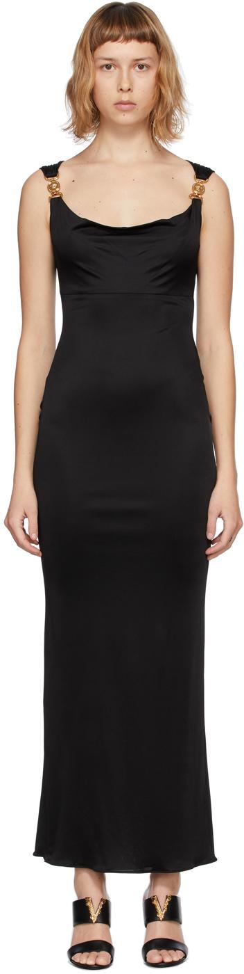 Versace 黑色 Medusa 晚装连衣裙