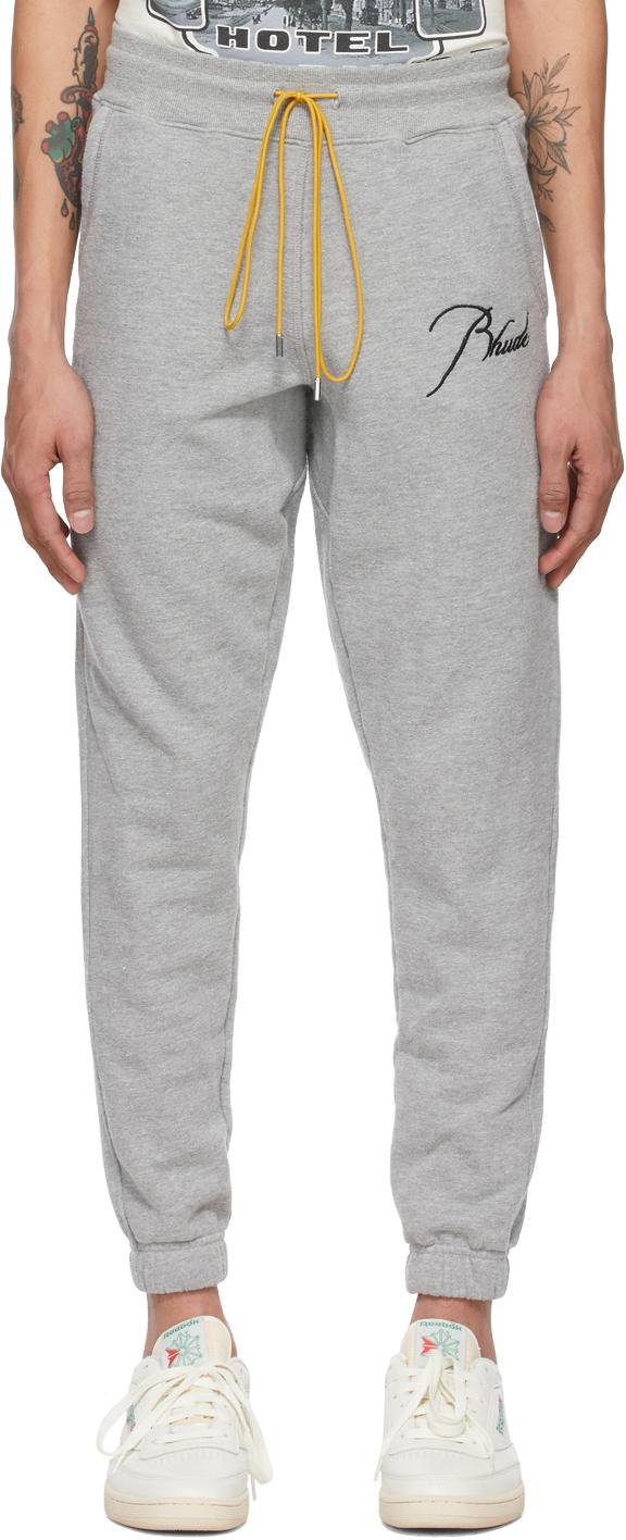 Rhude 灰色徽标运动裤