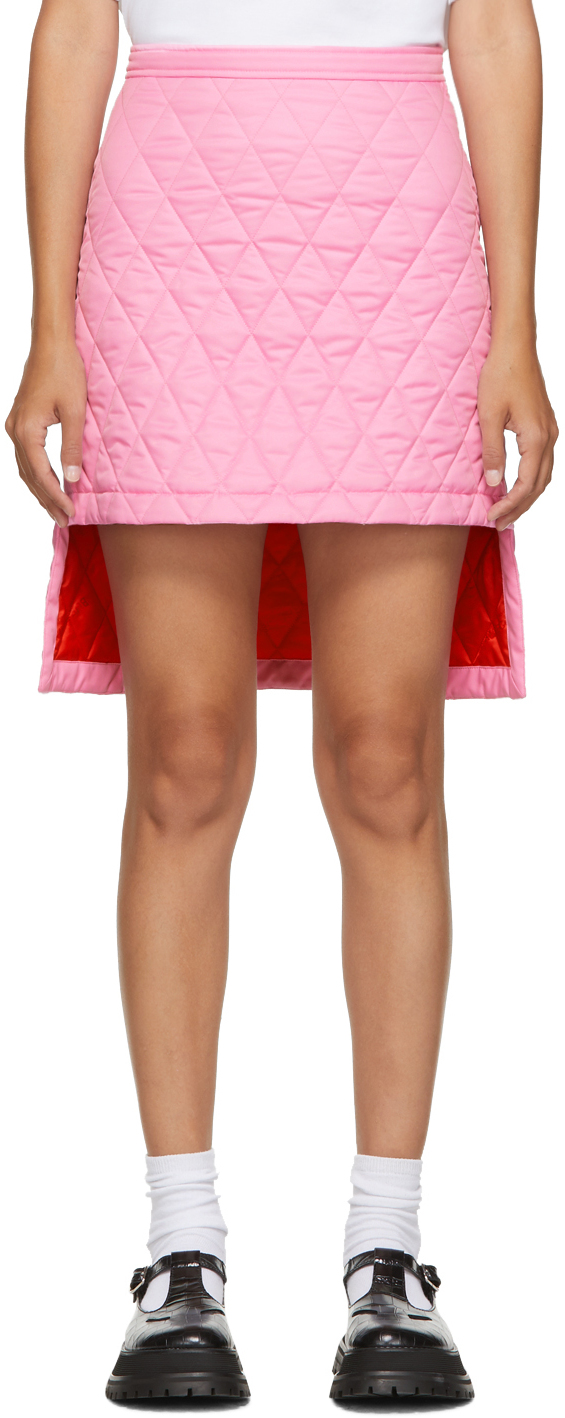 Burberry 粉色 Gail 绗缝短裙