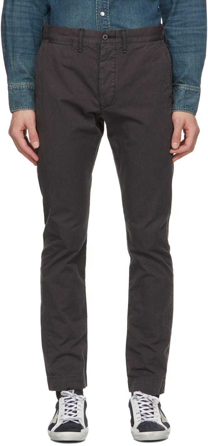 RRL 黑色 Slim Fit 长裤