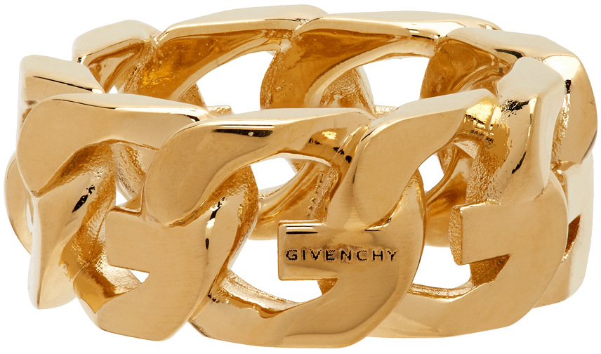 Givenchy 金色 G Chain 戒指