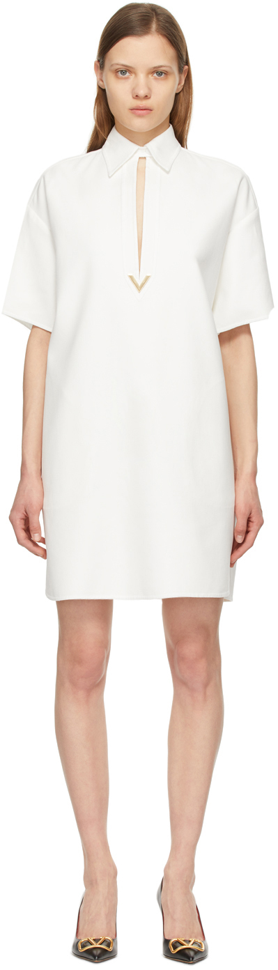Valentino 白色 VGold 连衣裙