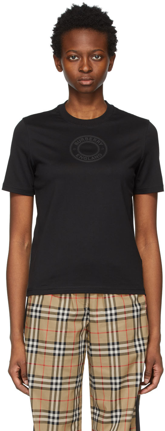 Burberry 黑色 Jemma 徽标 T 恤
