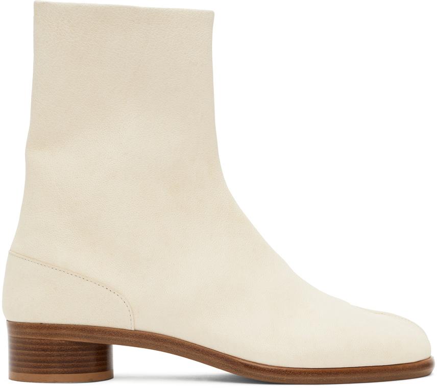 Maison Margiela 灰白色 Tabi 踝靴