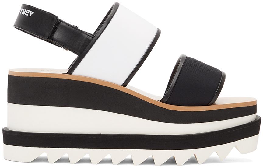 Stella McCartney 黑色 & 白色 Sneak Elyse 凉鞋