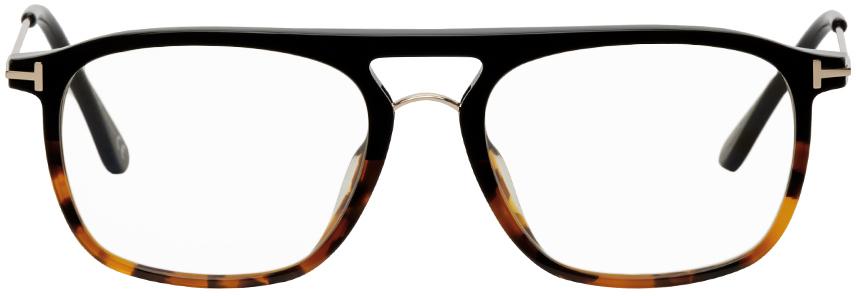 TOM FORD 玳瑁色防蓝光方框眼镜