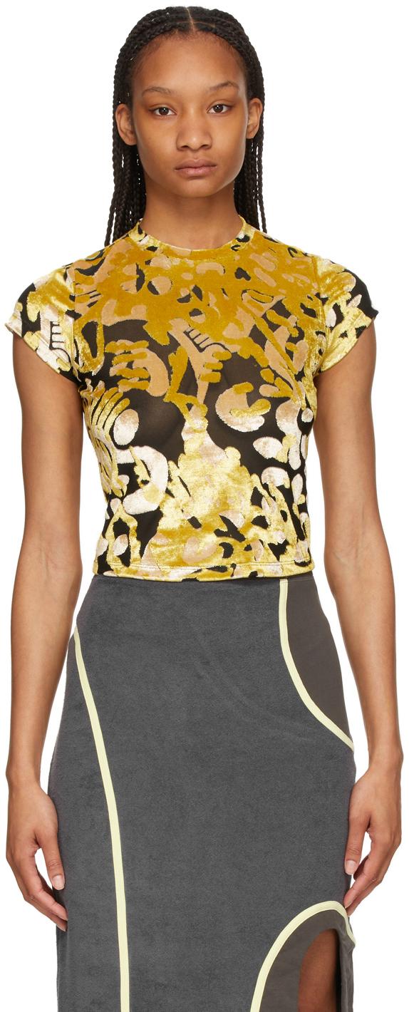 Eckhaus Latta 黑色 & 金色 Shrunk T 恤