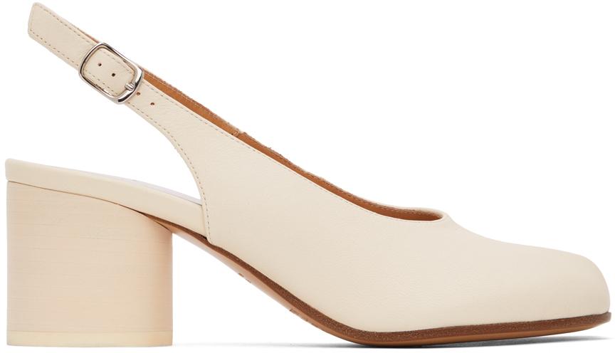 Maison Margiela 灰白色 Tabi 后系带中跟鞋