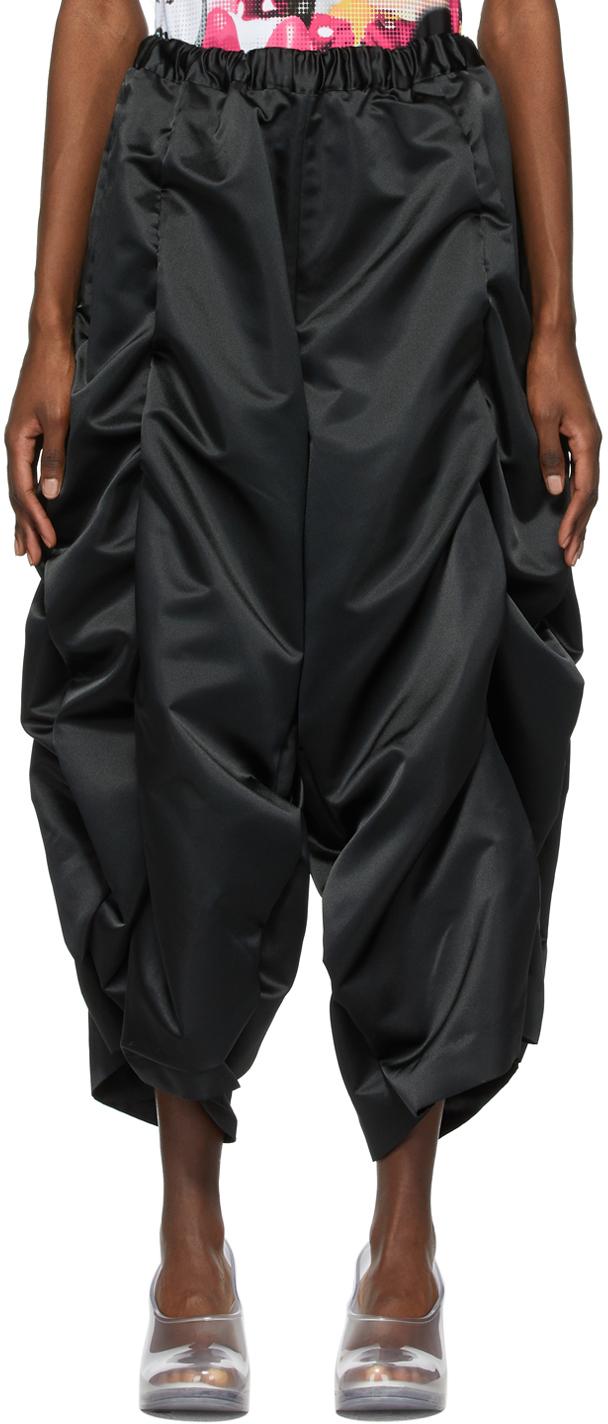 Comme des Garçons 黑色褶皱长裤