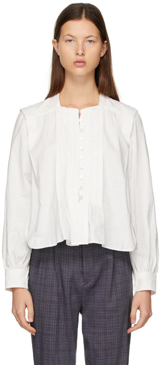 Isabel Marant Etoile 白色 Okina 上装