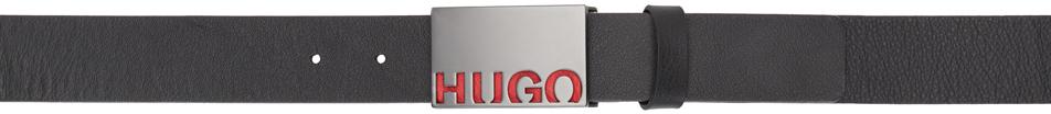 HUGO 黑色 Glenn 腰带