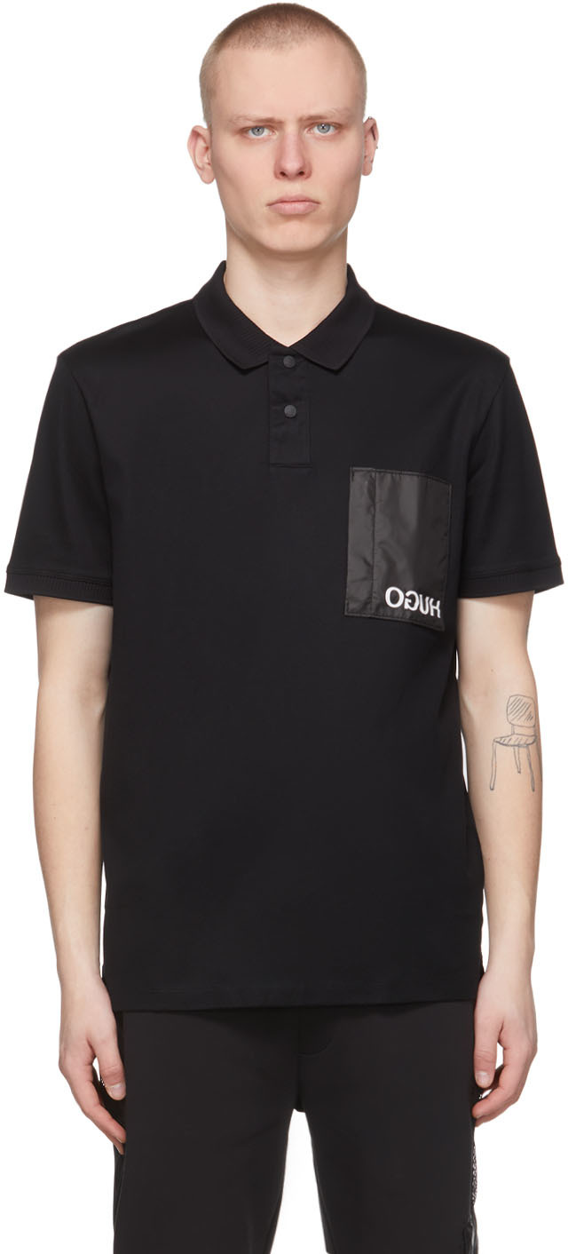 HUGO 黑色 Dioga Polo 衫