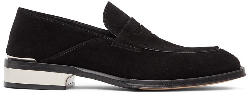 Alexander McQueen 黑色绒面革乐福鞋