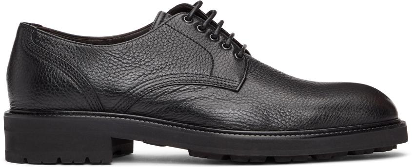 Ermenegildo Zegna 黑色 Arezzo Flex 德比鞋