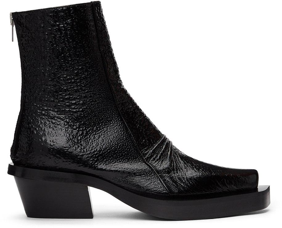 1017 ALYX 9SM 黑色 Leone Toad Print 踝靴