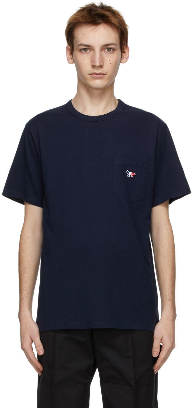 Maison Kitsuné 海军蓝 Tricolor Fox Patch T 恤