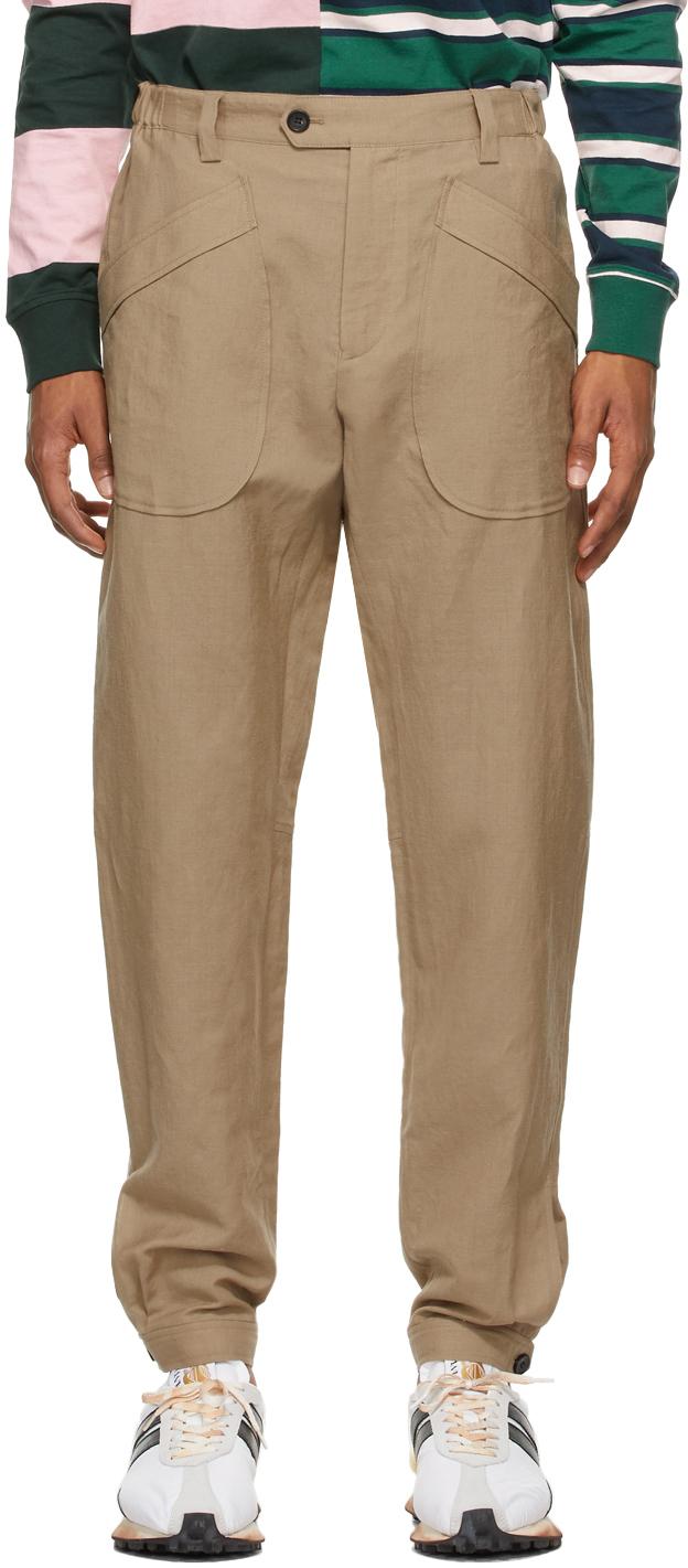 Lanvin 驼色 Jogger 长裤