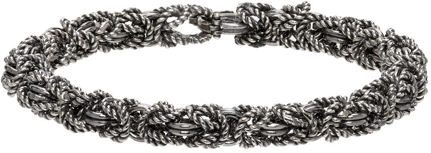 Ugo Cacciatori 银色 Byzantine 手链