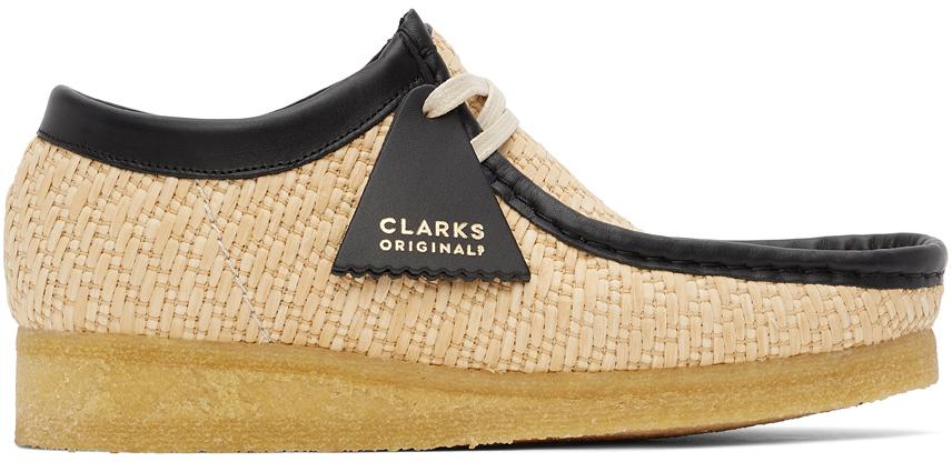 Clarks Originals 驼色 Wallabee 拉菲草莫卡辛鞋