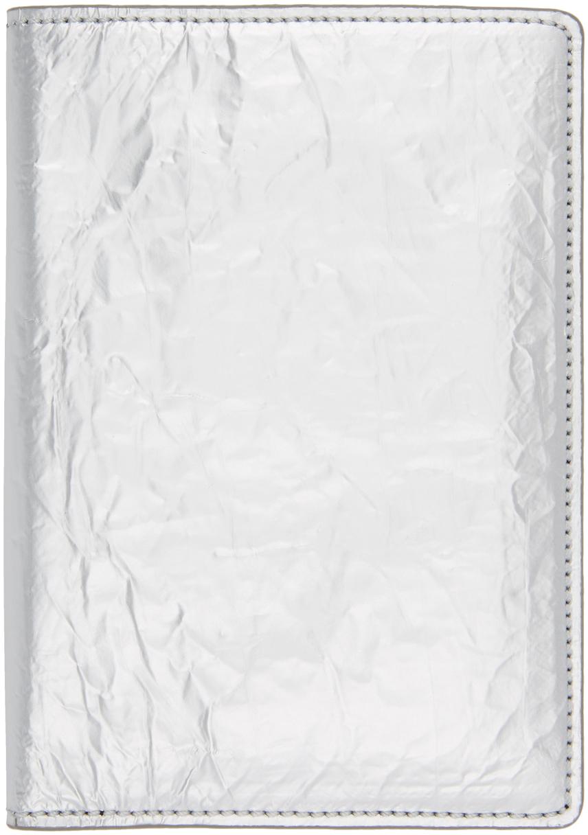 Maison Margiela 银色 Crinkle 护照套