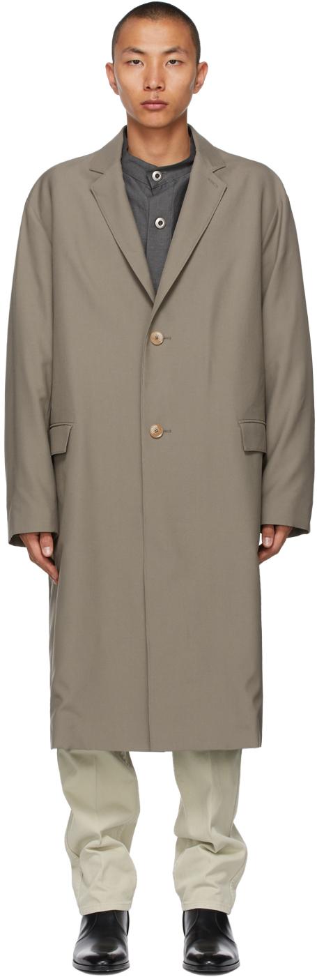 Lemaire 灰褐色 Light Suit 大衣