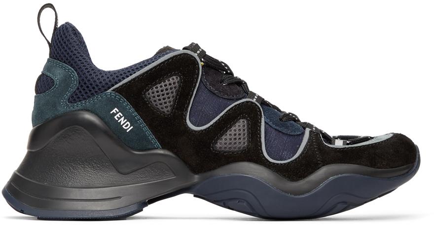 Fendi 黑色 FFluid 运动鞋