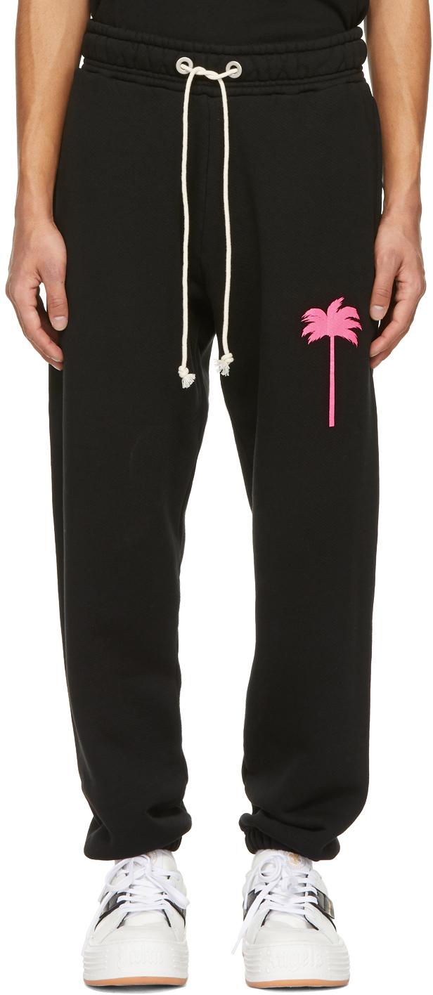 Palm Angels 黑色 Palm Tree 运动裤