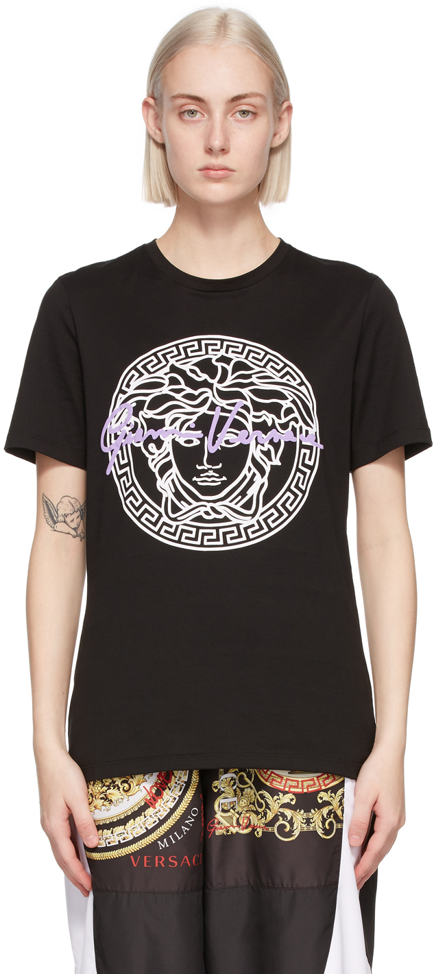 Versace 黑色 Medusa Motif T 恤