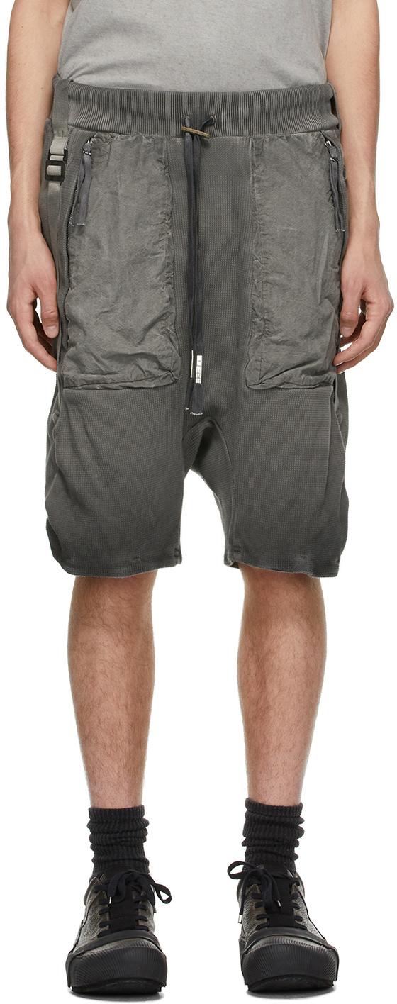 Boris Bidjan Saberi 灰色树脂染色短裤