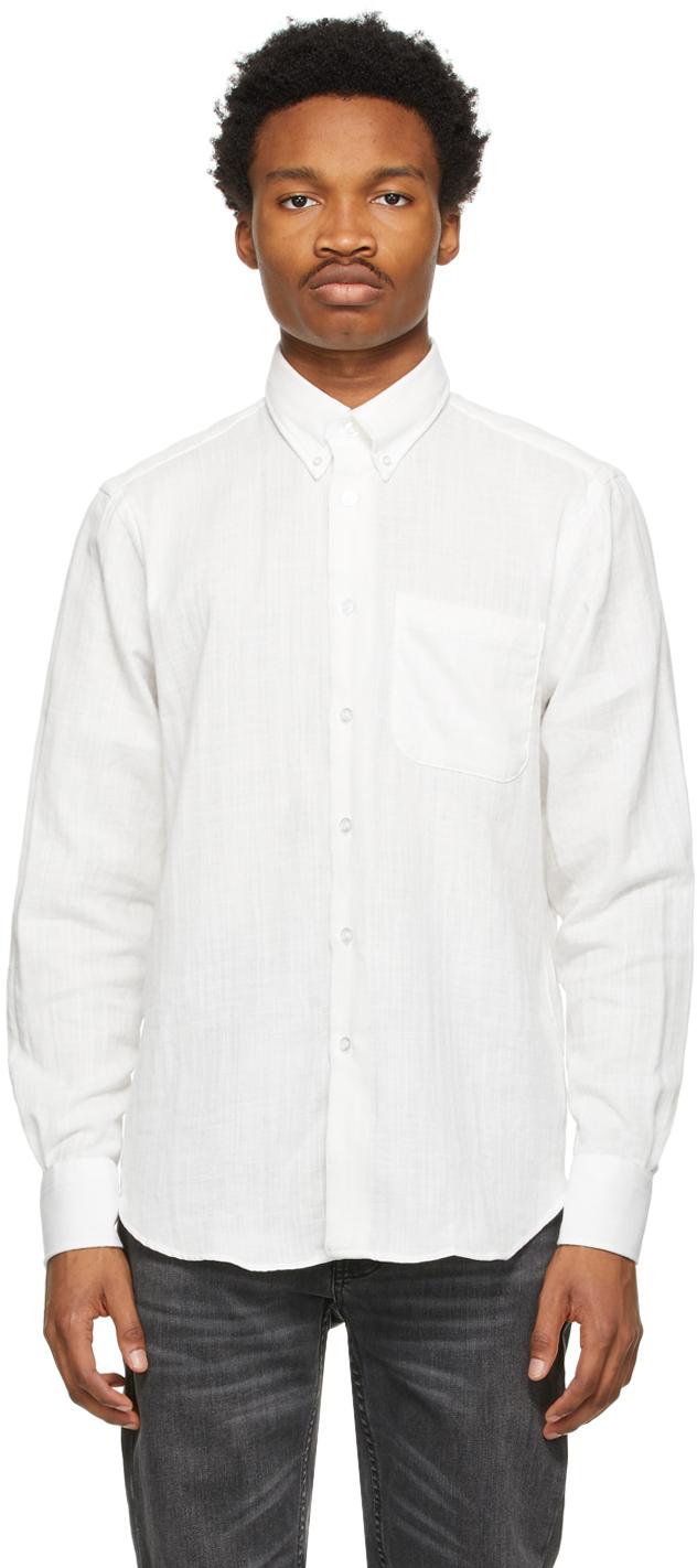 Naked & Famous Denim 白色 Double-Weave Easy 衬衫