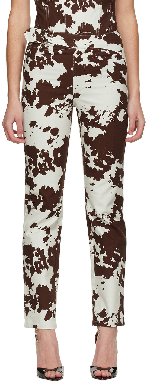 Miaou 棕色 Lou Cow Print 长裤