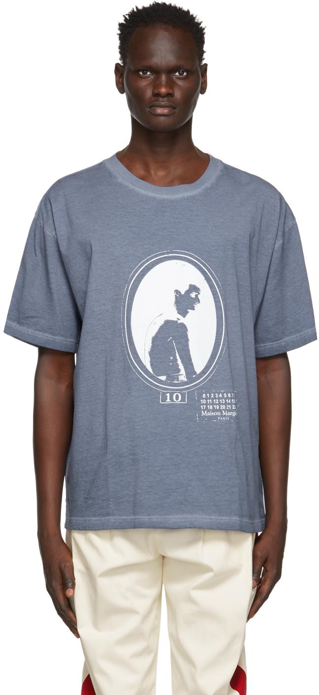 Maison Margiela 蓝色 Silhouette Print T 恤
