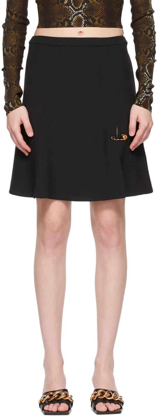 Versace SSENSE 独家发售黑色 Safety Pin 短裙