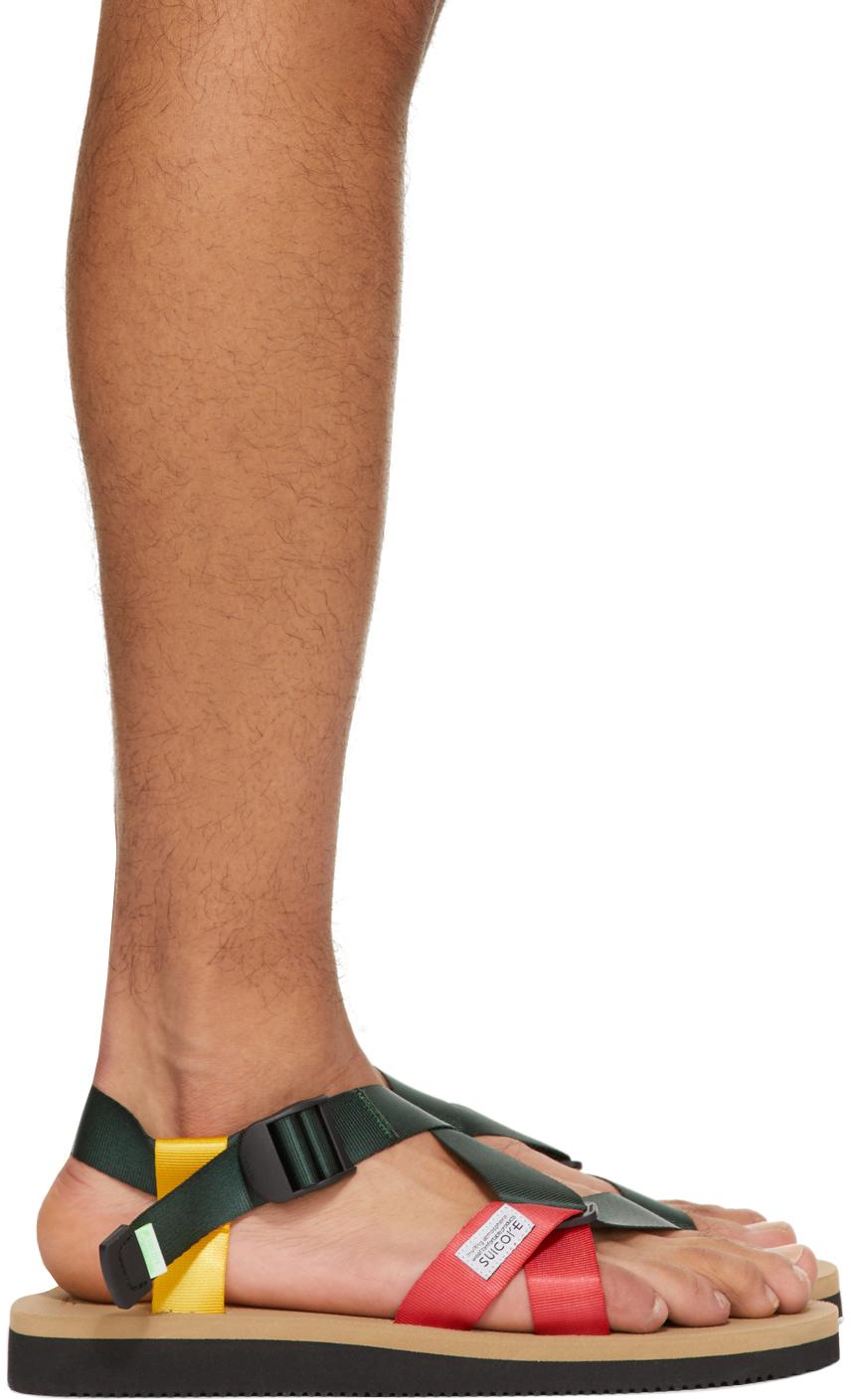 Suicoke 绿色 CHIN2-AB 凉鞋