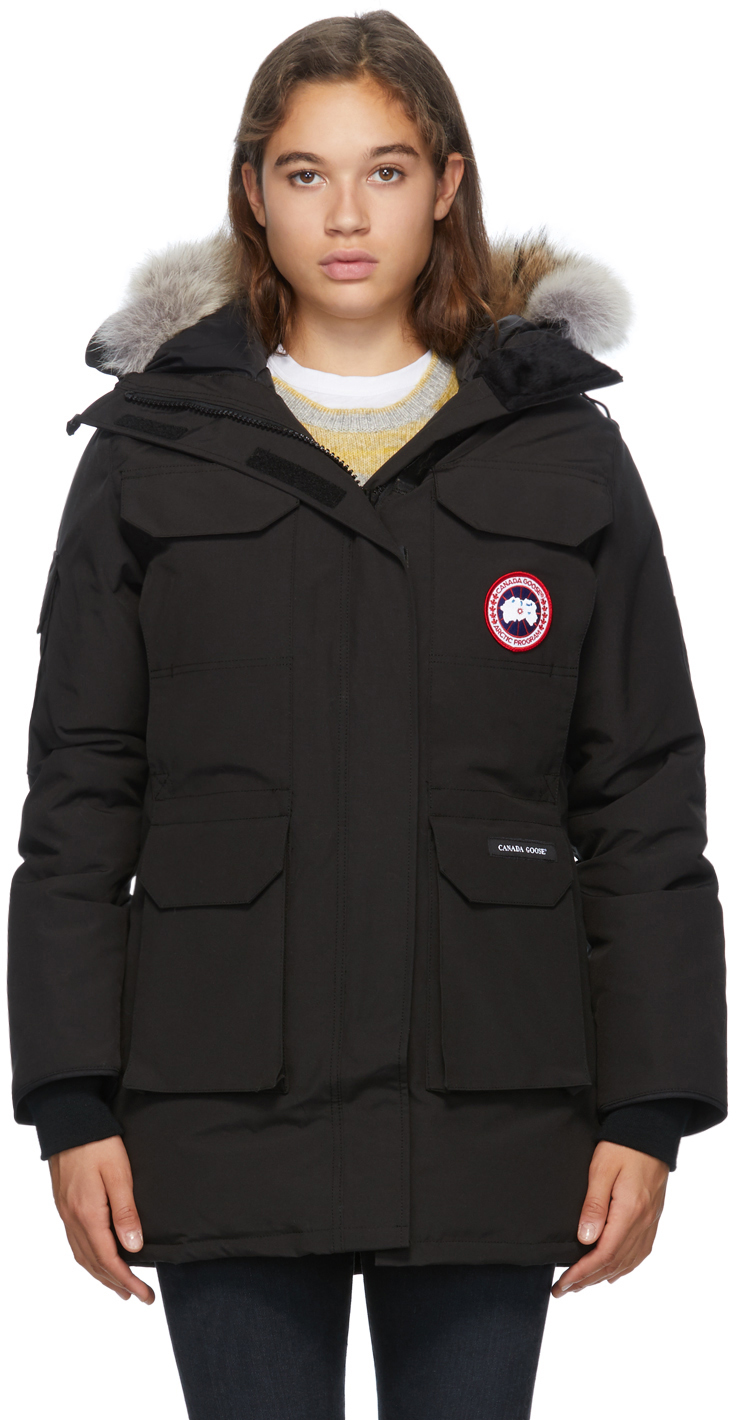 Canada Goose 黑色 Expedition 羽绒派克大衣