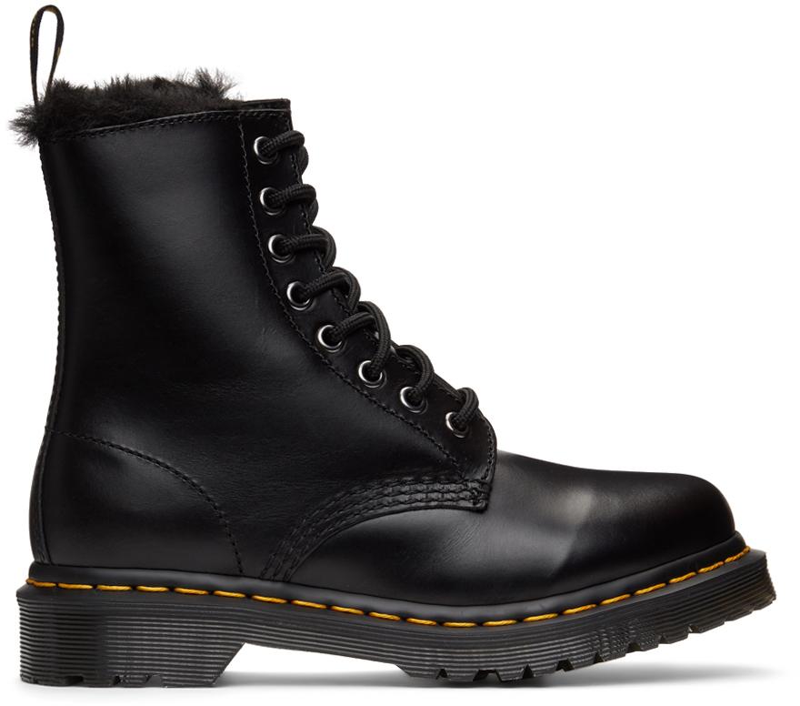 Dr. Martens 黑色 1460 Serena 踝靴