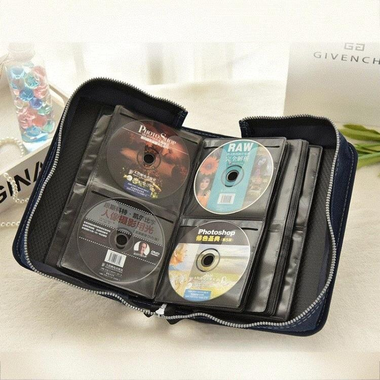 CD收納盒 牛仔布大容量光盤軟件包 CD盒DVD光碟包收納盒車載碟片CD包