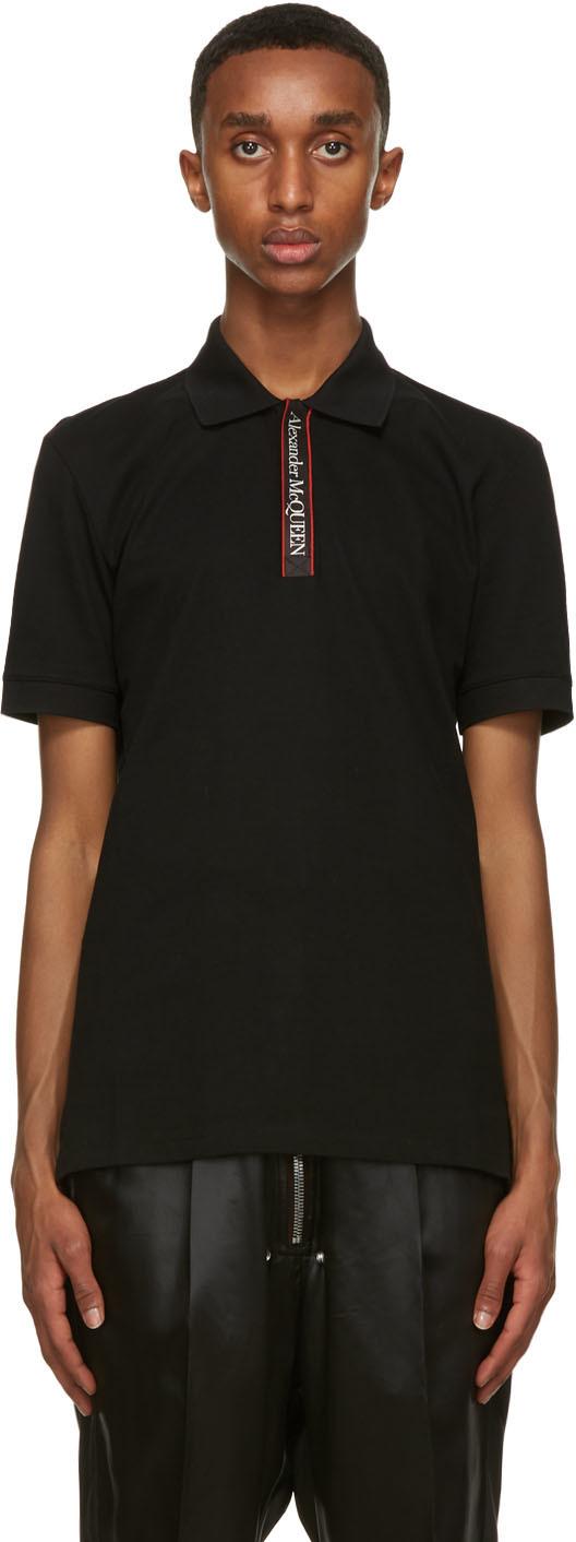 Alexander McQueen 黑色徽标 Polo 衫