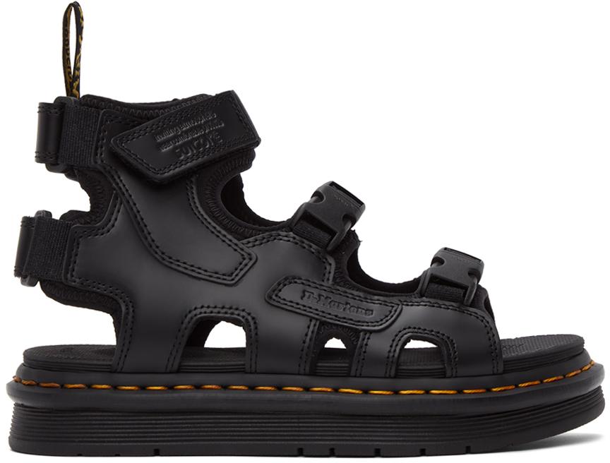 Dr. Martens 黑色 Suicoke 联名 BOAK 凉鞋