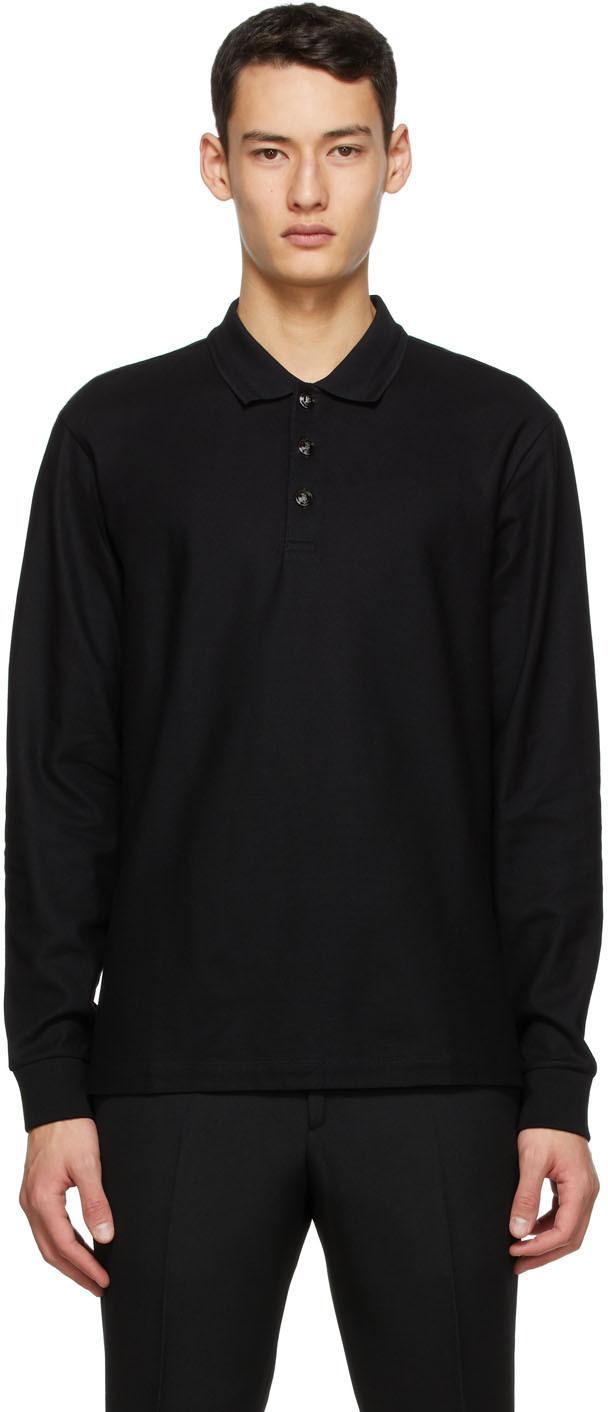 Burberry 黑色 Cotton Piqué Polo 衫