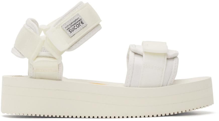 Suicoke 白色 CEL-VPO 凉鞋
