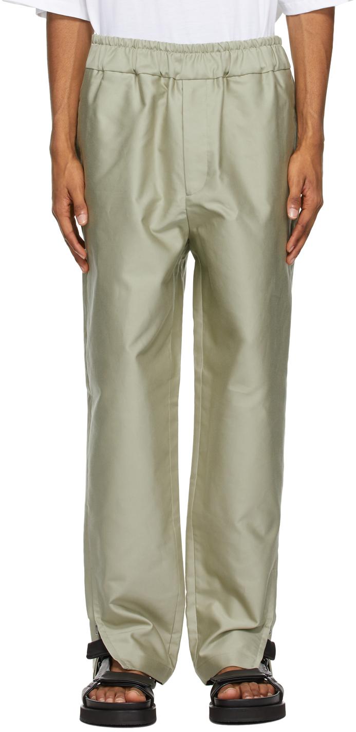 Jil Sander 绿色锥形长裤