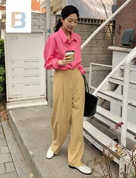 韓國空運 - Minimal Loose-fit slacks 長褲