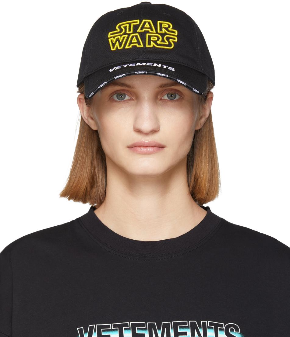 VETEMENTS 黑色 Star Wars 系列徽标棒球帽