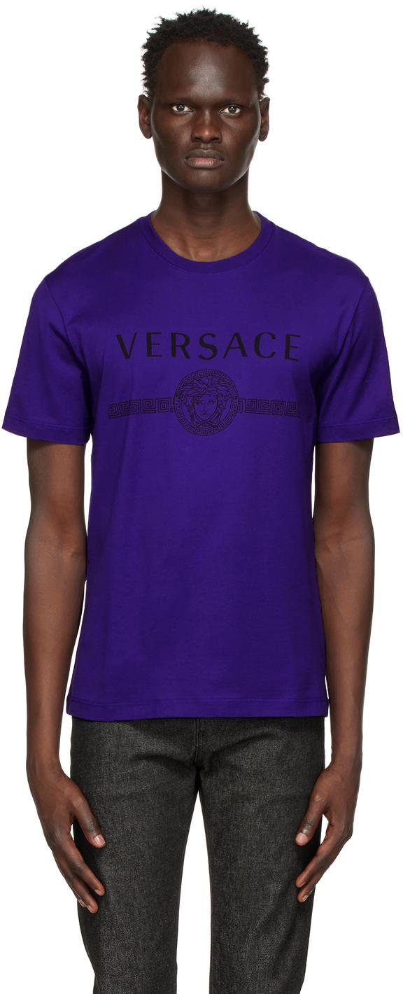 Versace 蓝色 Medusa T 恤