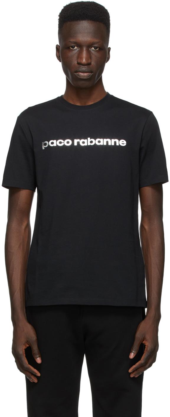 Paco Rabanne 黑色徽标 T 恤