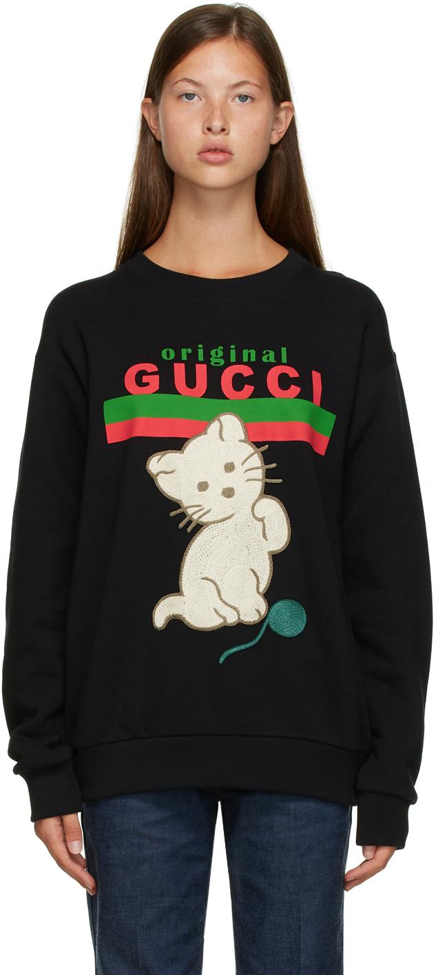 """Gucci 黑色""""Original Gucci"""" Cat 套头衫"""