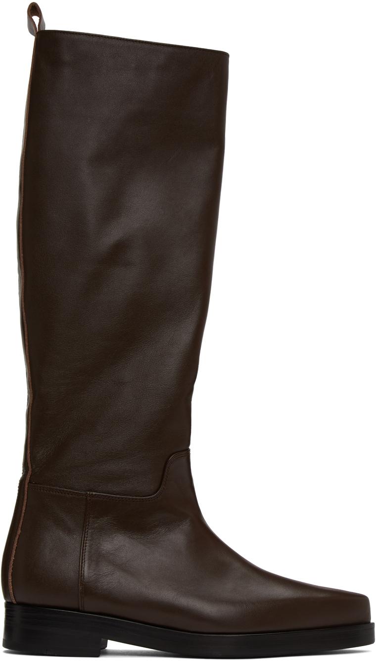 LOW CLASSIC 棕色 Western 高筒靴
