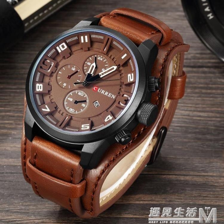 全新時尚手錶男兩用朋克腕表機車手錶學生表原裝